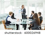 business team gives a... | Shutterstock . vector #600026948