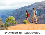 Hikers Couple Hiking In...