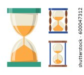 sandglass icon time flat design ... | Shutterstock .eps vector #600047312