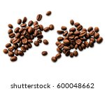 coffee beans isolated on white... | Shutterstock . vector #600048662