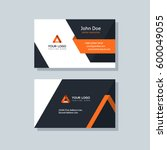 modern business card template... | Shutterstock .eps vector #600049055