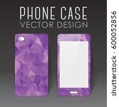 case for mobile phone with... | Shutterstock .eps vector #600052856