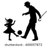 vector silhouette illustration... | Shutterstock .eps vector #600057872