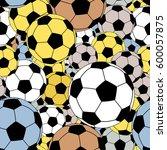 editable vector seamless tile... | Shutterstock .eps vector #600057875