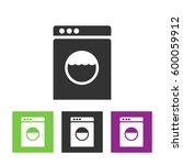 washing machine icon. home... | Shutterstock .eps vector #600059912