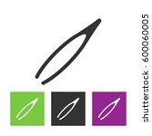 eyebrow tweezers icon | Shutterstock .eps vector #600060005