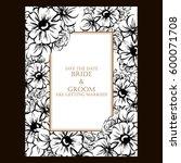 romantic invitation. wedding ...   Shutterstock .eps vector #600071708