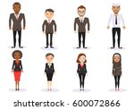 group of business men and... | Shutterstock .eps vector #600072866