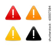 warning attention sign with... | Shutterstock .eps vector #60007384