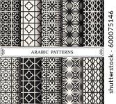 arabic vector pattern pattern... | Shutterstock .eps vector #600075146