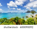 amazing scenic view of sea bay... | Shutterstock . vector #600090092