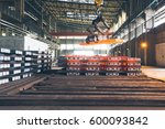 interior view of a steel... | Shutterstock . vector #600093842
