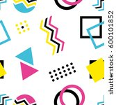 90''s style background | Shutterstock .eps vector #600101852