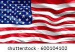 illustration of the usa flag | Shutterstock . vector #600104102