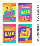 set of colorful trendy sale... | Shutterstock .eps vector #600110756
