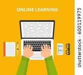 training  education  online... | Shutterstock .eps vector #600119975