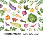 watercolor card organic... | Shutterstock . vector #600127262