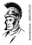 roman warrior | Shutterstock . vector #600129122