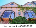colorful vintage house with... | Shutterstock . vector #600132392