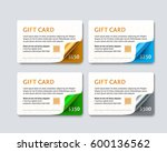 set of gift discount cards with ... | Shutterstock .eps vector #600136562