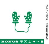 baby gloves icon flat. simple...
