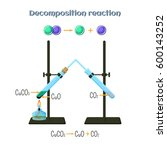 decomposition reaction   copper ... | Shutterstock .eps vector #600143252