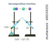 decomposition reaction   copper ... | Shutterstock .eps vector #600143252