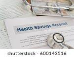 health savings account hsa... | Shutterstock . vector #600143516