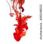 red ink dropped into water... | Shutterstock . vector #600148022