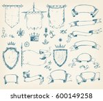 vector hand drawn collection of ... | Shutterstock .eps vector #600149258