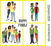 happy african american family ... | Shutterstock .eps vector #600149402