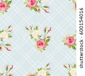 seamless floral pattern with... | Shutterstock .eps vector #600154016