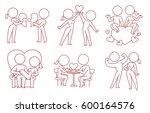 vector set of cartoon images of ... | Shutterstock .eps vector #600164576