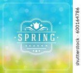 spring badge vector typographic ... | Shutterstock .eps vector #600164786