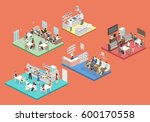 isometric flat 3d concept...   Shutterstock . vector #600170558