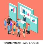 isometric flat 3d concept... | Shutterstock . vector #600170918