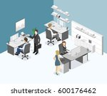 flat 3d isometric abstract... | Shutterstock . vector #600176462