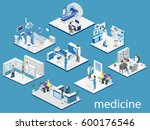 isometric flat interior of... | Shutterstock . vector #600176546