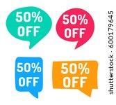 50  off. hand drawn speech... | Shutterstock .eps vector #600179645