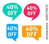 40  off. hand drawn speech... | Shutterstock .eps vector #600179672