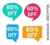 60  off. hand drawn speech... | Shutterstock .eps vector #600179708