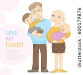 vector happy parents with son... | Shutterstock .eps vector #600179876