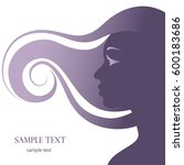 silhouette of a girl  beautiful ...   Shutterstock .eps vector #600183686