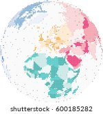 map of europe and africa ... | Shutterstock .eps vector #600185282