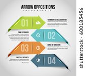 vector illustration of arrow... | Shutterstock .eps vector #600185456