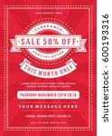 sale flyer or poster design... | Shutterstock .eps vector #600193316