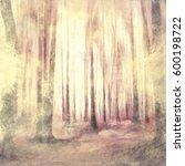 Dark Woods Abstract Watercolor...