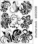 vector floral set | Shutterstock .eps vector #6002008