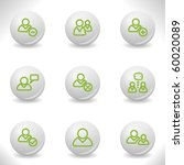 grey balls with green icon and... | Shutterstock .eps vector #60020089