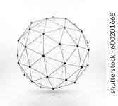 wireframe globe sphere ... | Shutterstock .eps vector #600201668